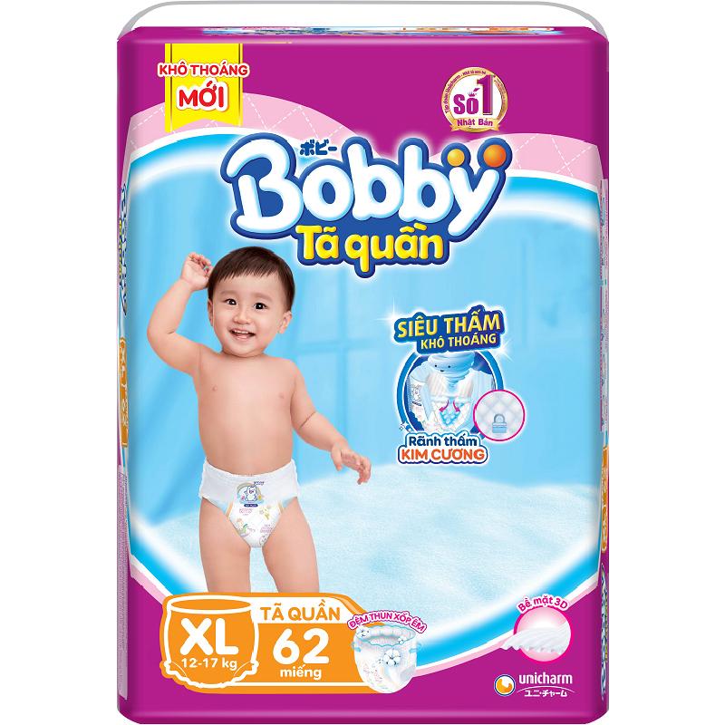 Hình ảnh Tã Quần Bobby Siêu Thoáng XL62 (62 Miếng)
