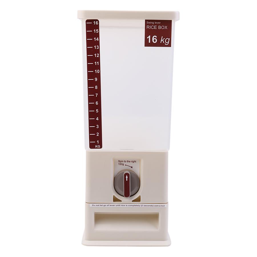 Thùng Đựng Gạo Thông Minh Xuất Khẩu Tashuan TS-3626A (16kg) - Trắng - Hàng Chính Hãng