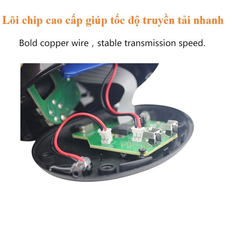 Chuột đứng không dây bluetooth wireless vertical mouse chống tê tay - màu đen