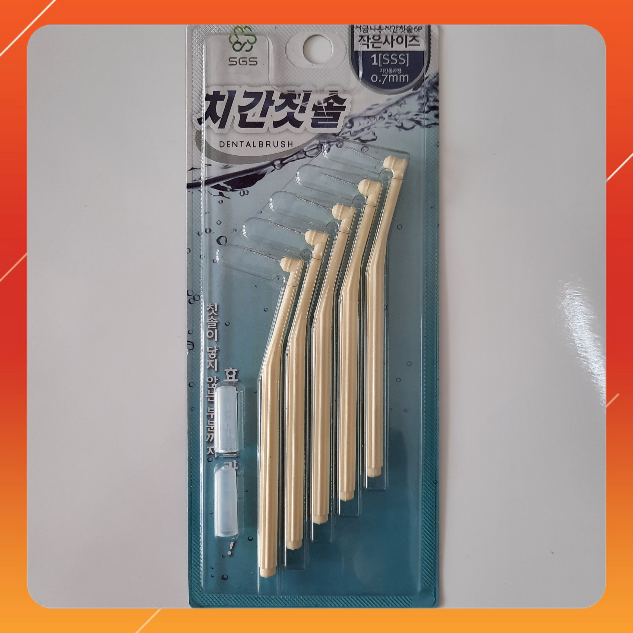 Bàn chải kẽ răng nhập khẩu Hàn Quốc (Size 3S 0.7 mm) - SGS Hàn Quốc