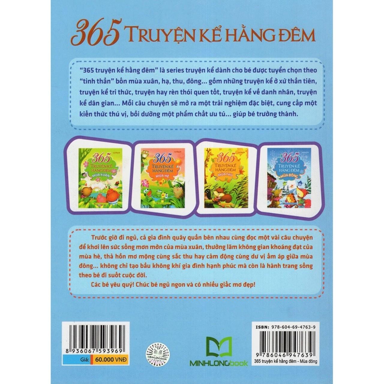 Combo Sách Truyện Thiếu Nhi 365 Truyện Kể Hằng Đêm( 4 cuốn)