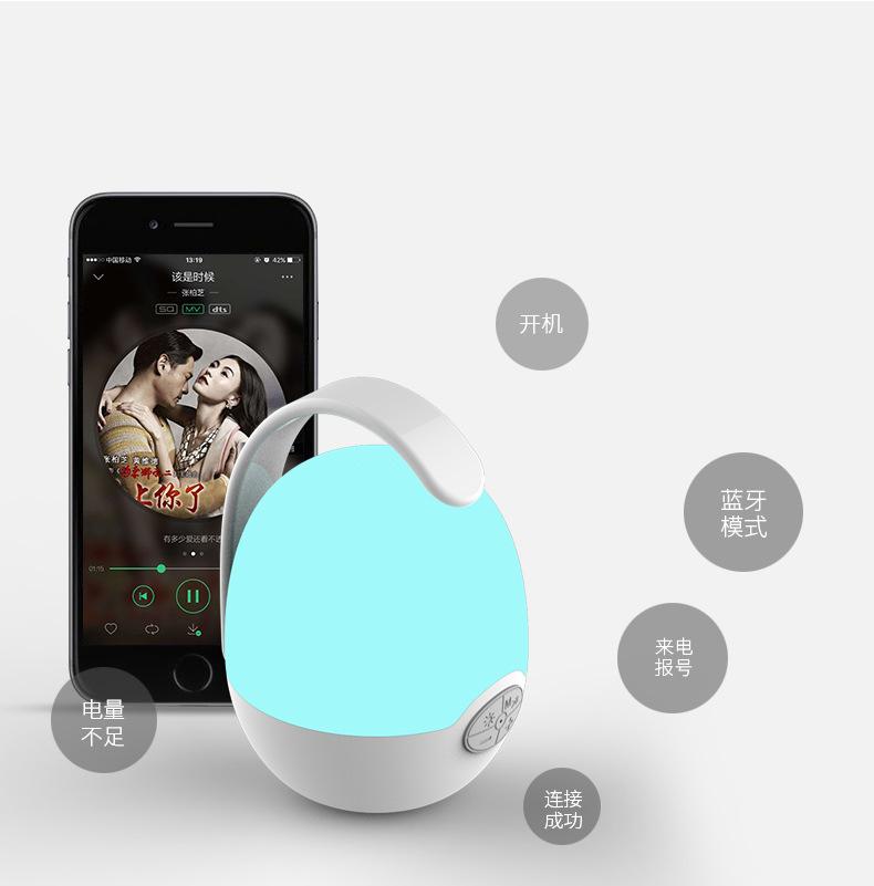 Loa nghe nhạc mini siêu trầm hình quả trứng hỗ trợ bluetooth, thẻ nhớ, kết nối đàm thoại (Giao màu ngẫu nhiên)