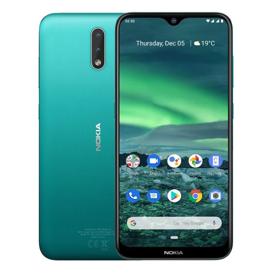 Điện Thoại Nokia 2.3  32GB2GB - Hàng Chính Hãng - Xanh Lá