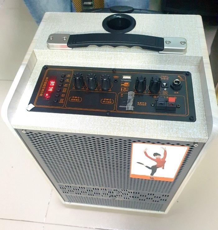 """Loa kéo di động karaoke 0804 Loa bass 8"""" âm thanh khủng kèm 1 micro cực hay"""
