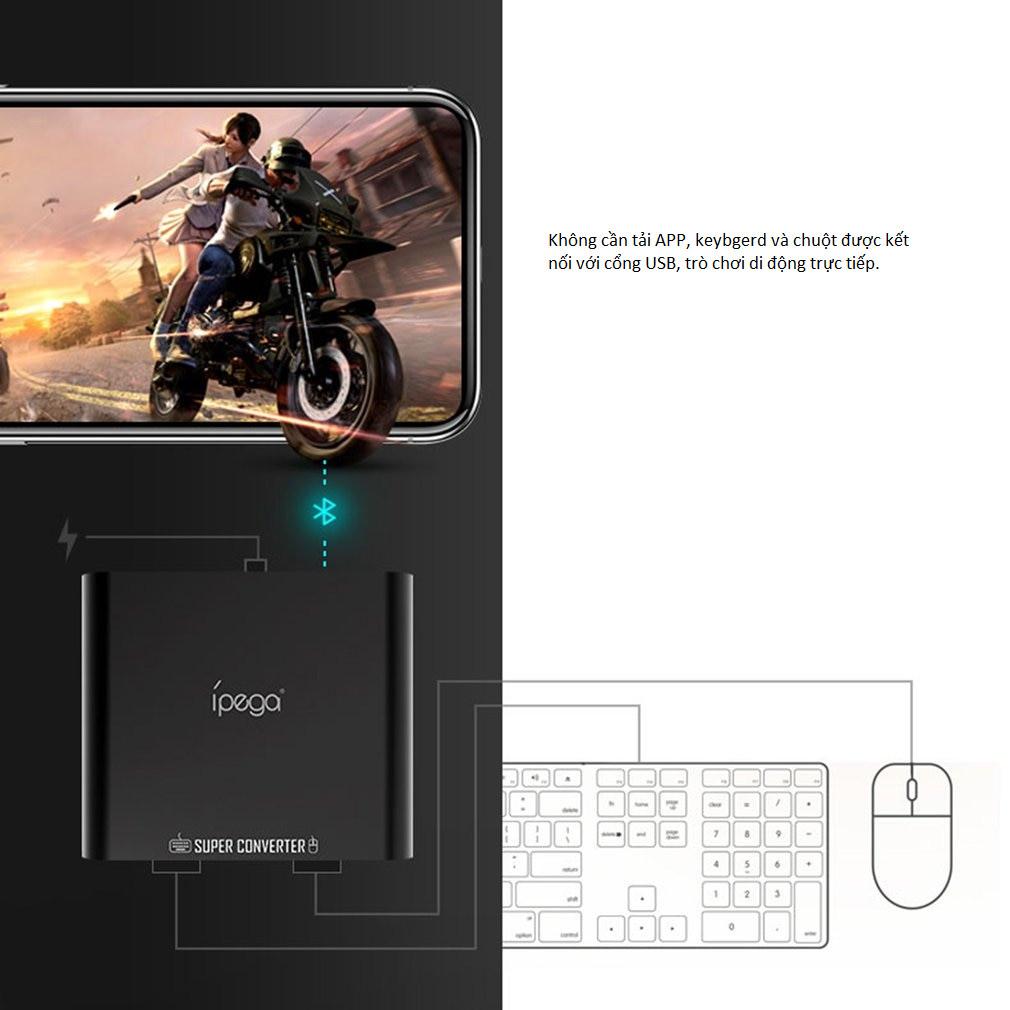Bộ Chuyển đổi bàn phím và chuột PG-9116 Bluetooth 4.0 Trên Điện Thoại Di Động Hàng Nhập Khẩu