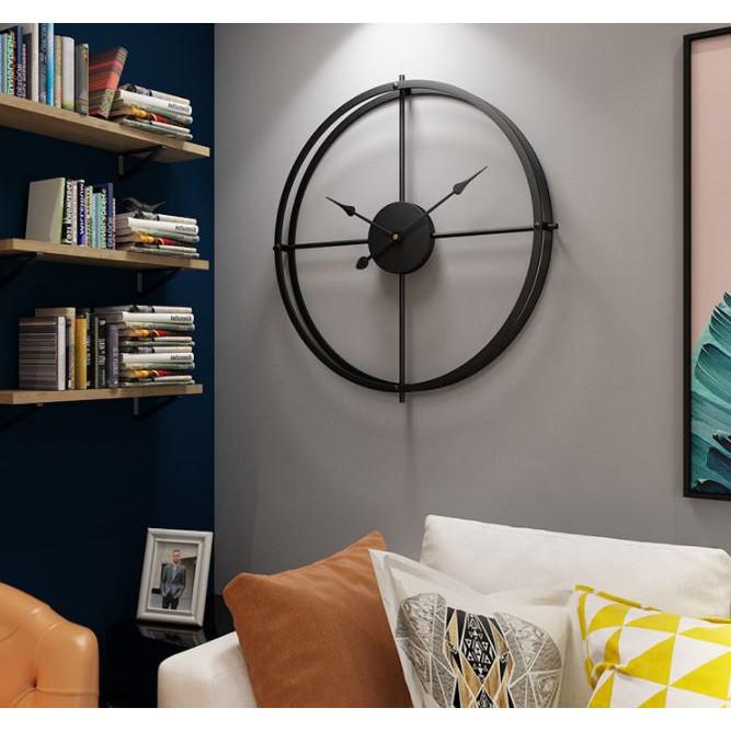 Đồng hồ treo tường Lớn 50cm, bằng Kim Loại Cao Cấp Dành Cho Gia Đình, Văn Phòng