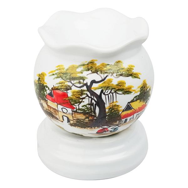 Đèn Xông Tinh Dầu Gốm Sứ Loại To - Tặng 1 lọ tinh dầu và khăn lau - Đồ đốt  tinh dầu Thương hiệu OEM | SieuThiChoLon.com