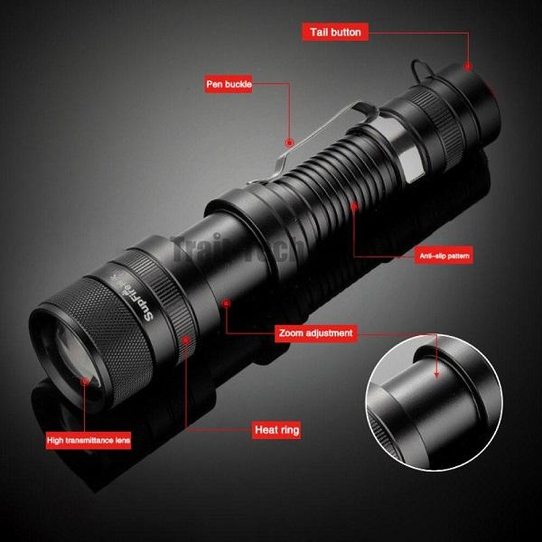 Đèn pin siêu sáng Supfire F5
