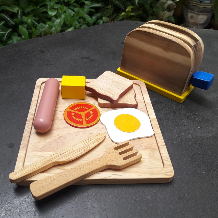 Mô hình bữa ăn sáng bằng gỗ - QTY072