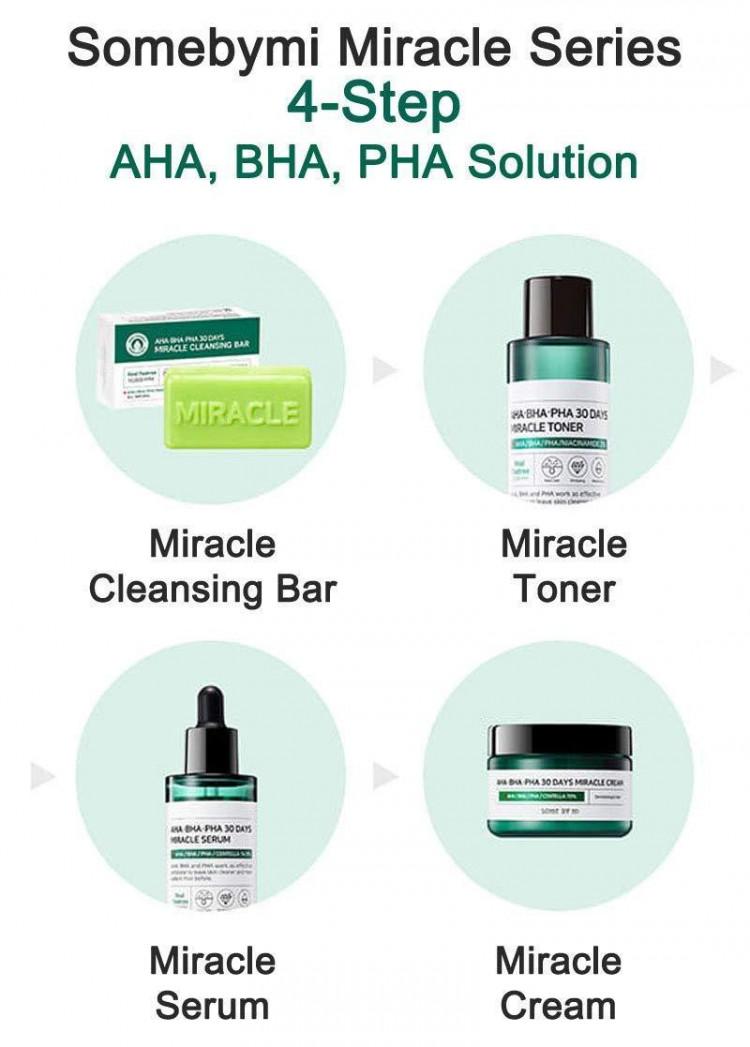 Bộ Kit Dưỡng Da Mụn Some By Mi AHA - BHA - PHA 30 Days Miracle Starter Kit 5