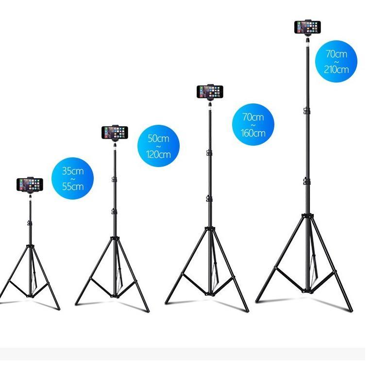 Chân điện thoại livestream cao 2m kẹp điện thoại và Remote bluetooth