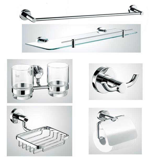 Bộ phụ kiện phòng tắm 6 món Inox