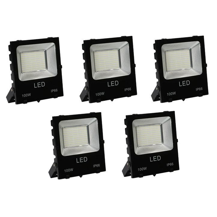 Bộ 5 đèn Led pha chíp dán 100W