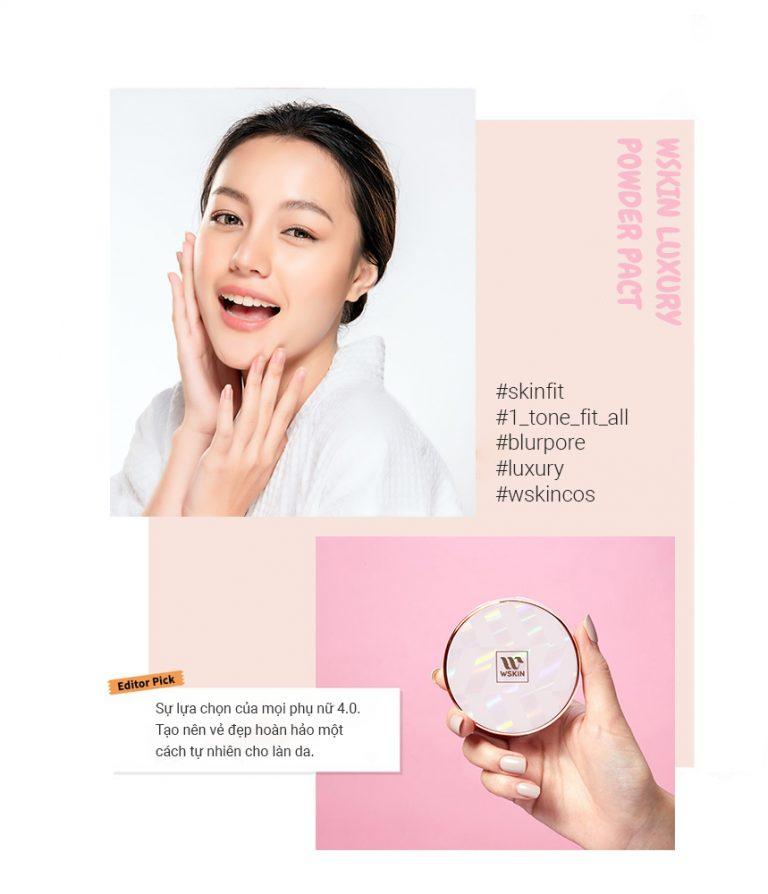 Phấn Nén Đông Y Cao Cấp Wskin Luxury Powder Pact