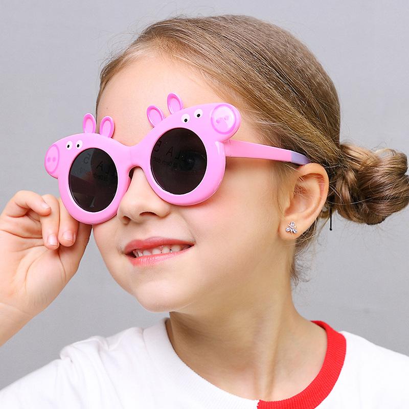 Kính mát trẻ em chống tia UV heo peppa gọng dẻo KM-12