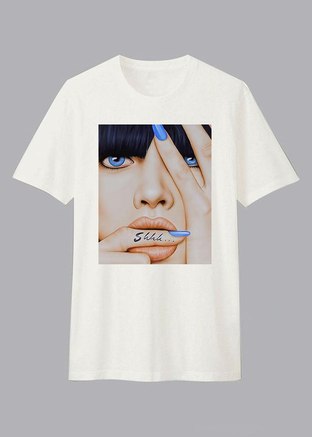 Áo T-Shirt Unisex Dotilo Shhh HU009 Size L - 24138984 , 7057449783684 , 62_8468991 , 299000 , Ao-T-Shirt-Unisex-Dotilo-Shhh-HU009-Size-L-62_8468991 , tiki.vn , Áo T-Shirt Unisex Dotilo Shhh HU009 Size L