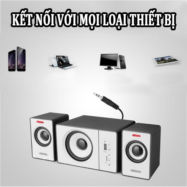 Hàng Chính Hãng - Loa Máy Vi Tính SADA D-200D, Hỗ Trợ Bluetooth, USB, Thẻ Nhớ