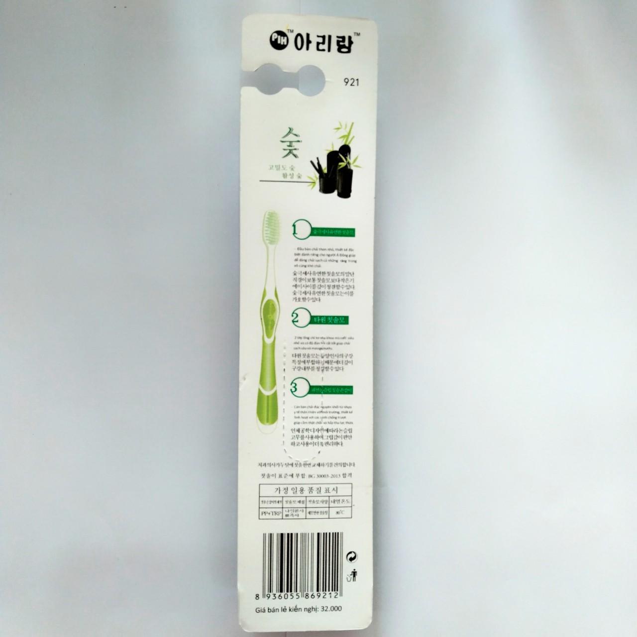 Combo 4 bàn chải than tre Hàn Quốc 921