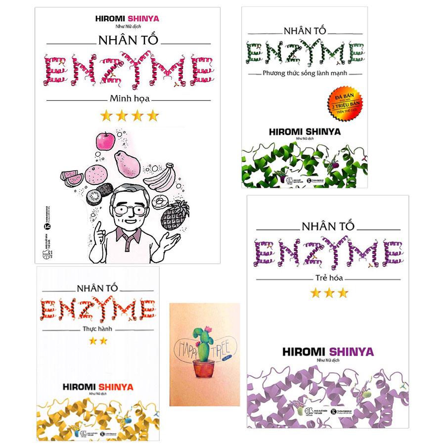 Combo Nhân Tố Enzyme : Trẻ Hóa, Phương Thức Sống Lành Mạnh, Minh Họa, Thực Hành ( Tặng Kèm Sổ Tay )