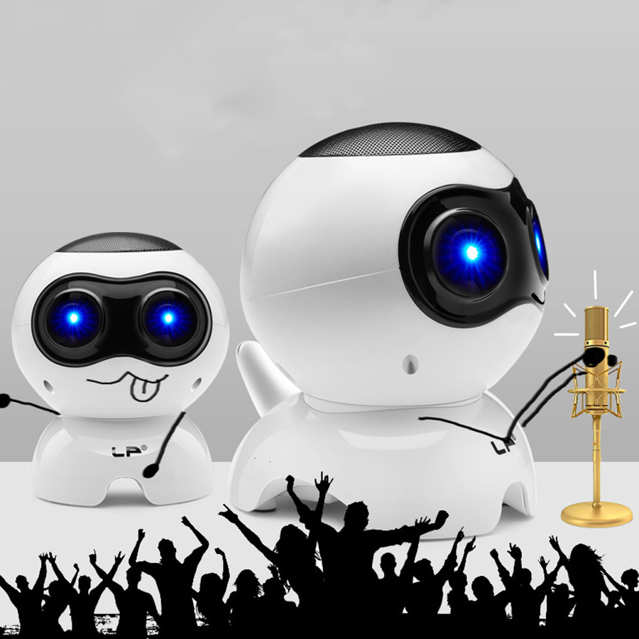 Loa Vi Tính Laptop Để Bàn Loa Nghe Nhạc Mini Q900 Hình Robot Âm Thanh Siêu Trầm Sống Động Hàng Nhập Khẩu