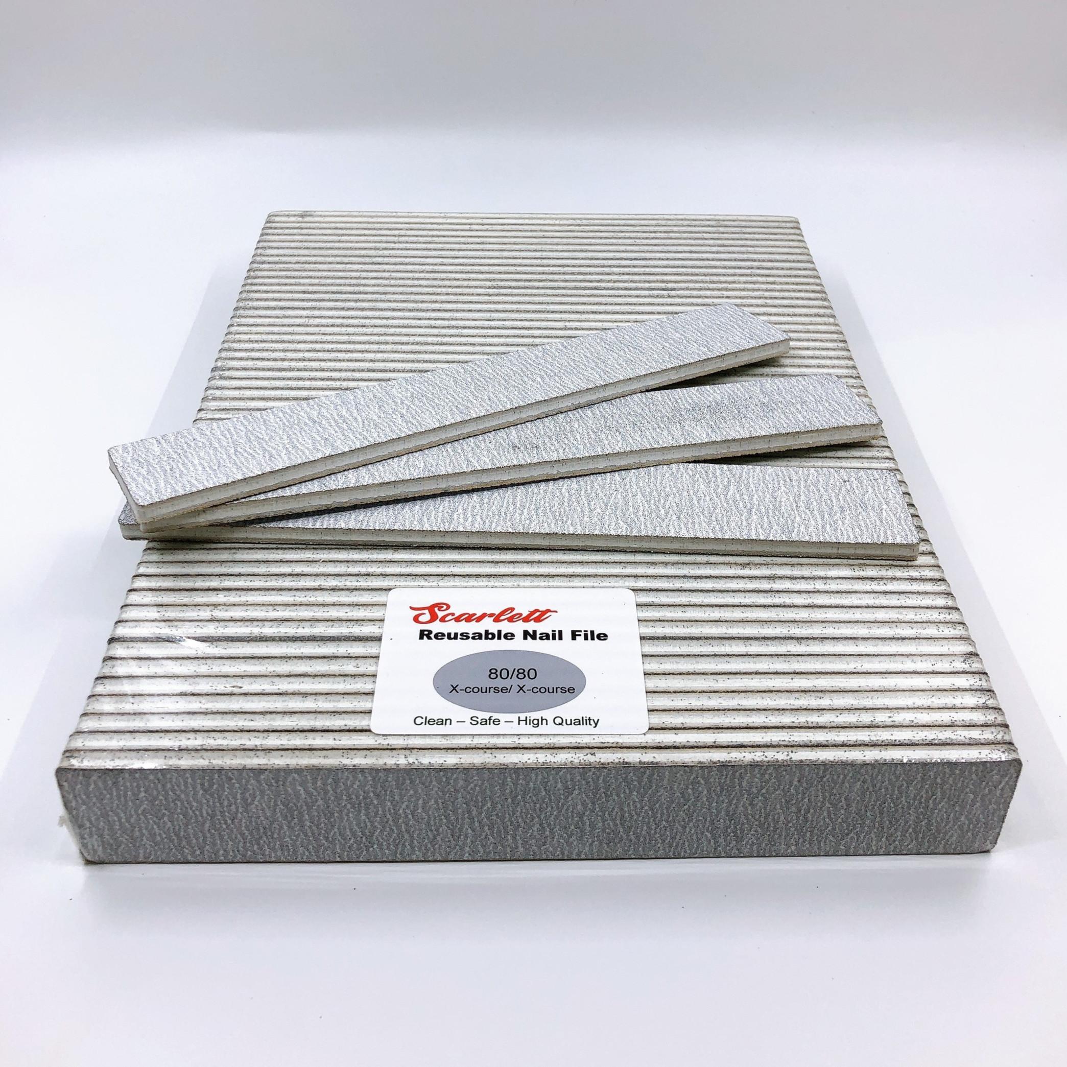 Set 10 cây dũa móng tay, dũa móng bột chuyên nghiệp Salon Pro - Độ nhám 80/80