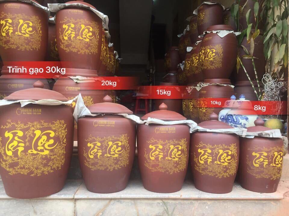 HŨ đựng gạo gốm sứ Bát Tràng