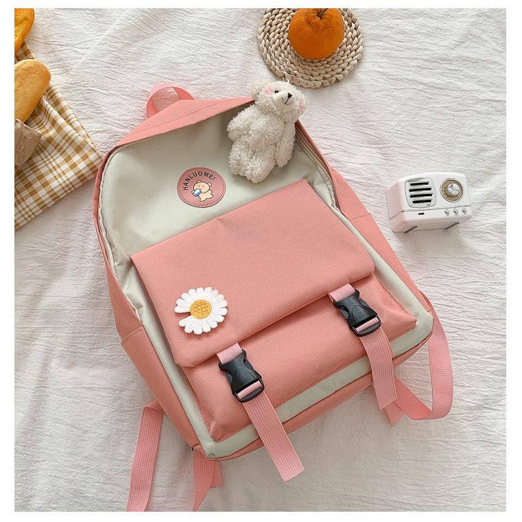 Balo nữ du lịch đi học thời trang hoa cúc cute đẹp BL31 cá tính lịch lãm