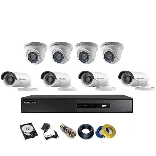 Camera Hikvision TVI 2.0MP 1080p bộ 8 mắt - Hàng chính hãng