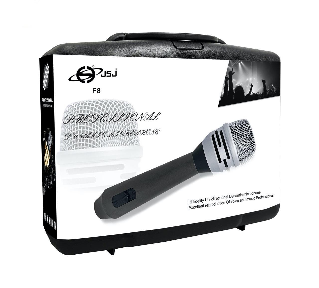 Micro Karaoke Có Dây Loại Cao Cấp JSJ - F8 Hàng Chính Hãng