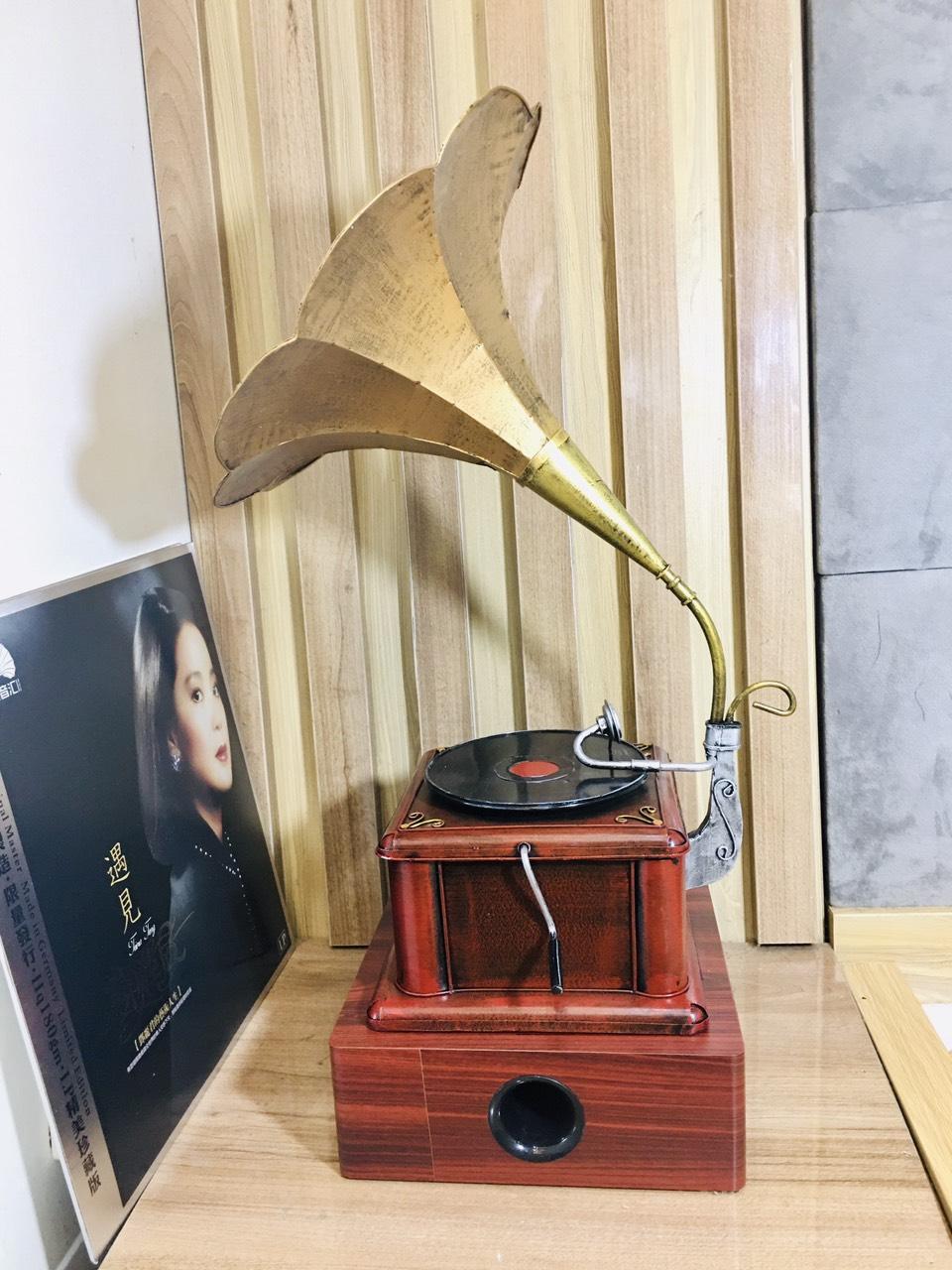 Máy phát nhạc loa kèn đồng ( nghe đài FM, BLUTOOTH, THẺ NHỚ)