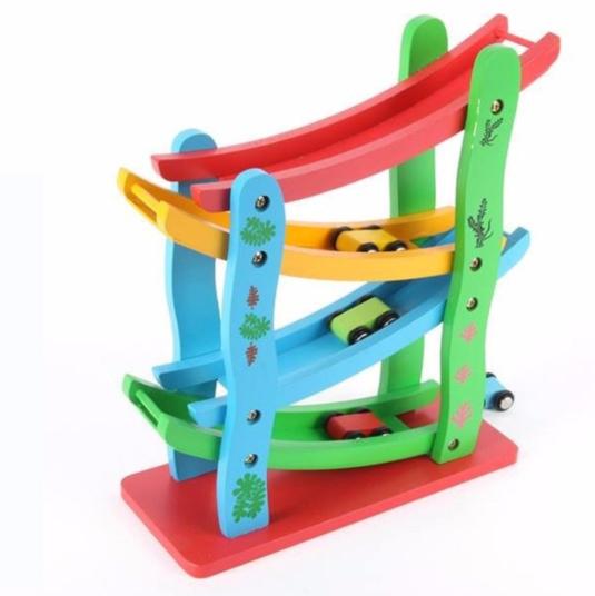 Đồ chơi gỗ Cầu trượt Ô TÔ
