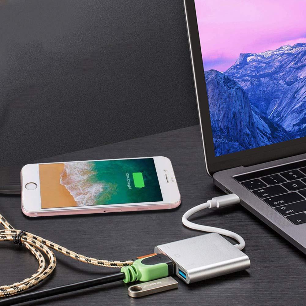 Cáp Chuyển Đổi Type-C Sang USB 3.0 HDMI Adapter PD