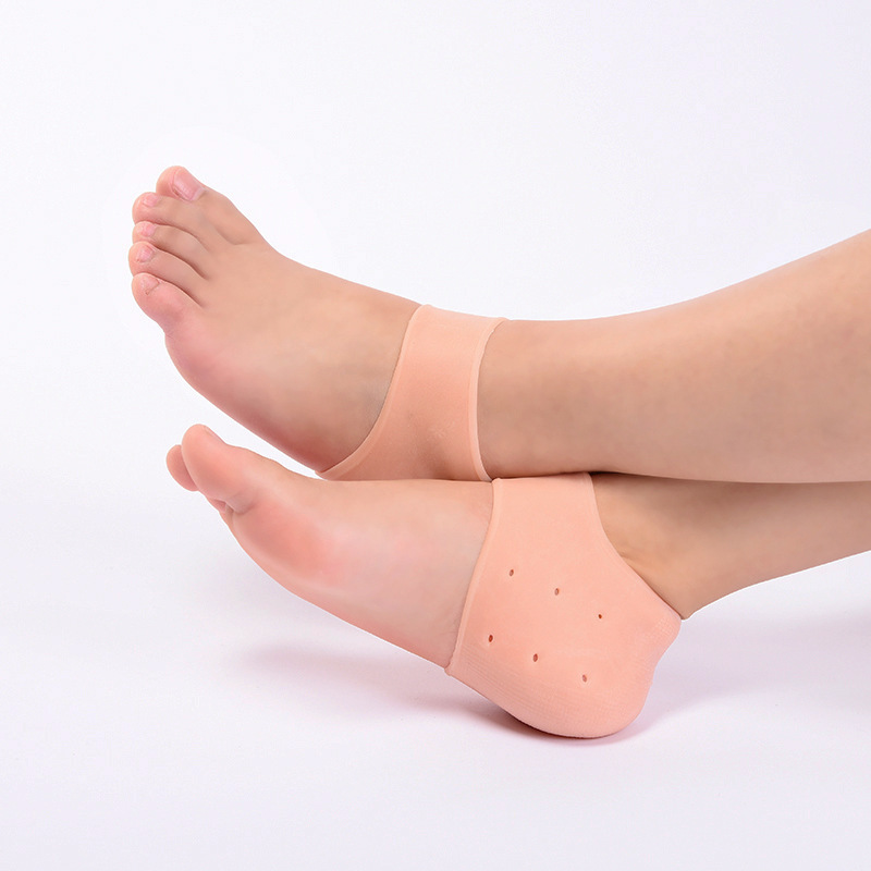 Bộ 10 đôi lót gót Silicon bảo vệ gót chân và cổ chân - Màu Da