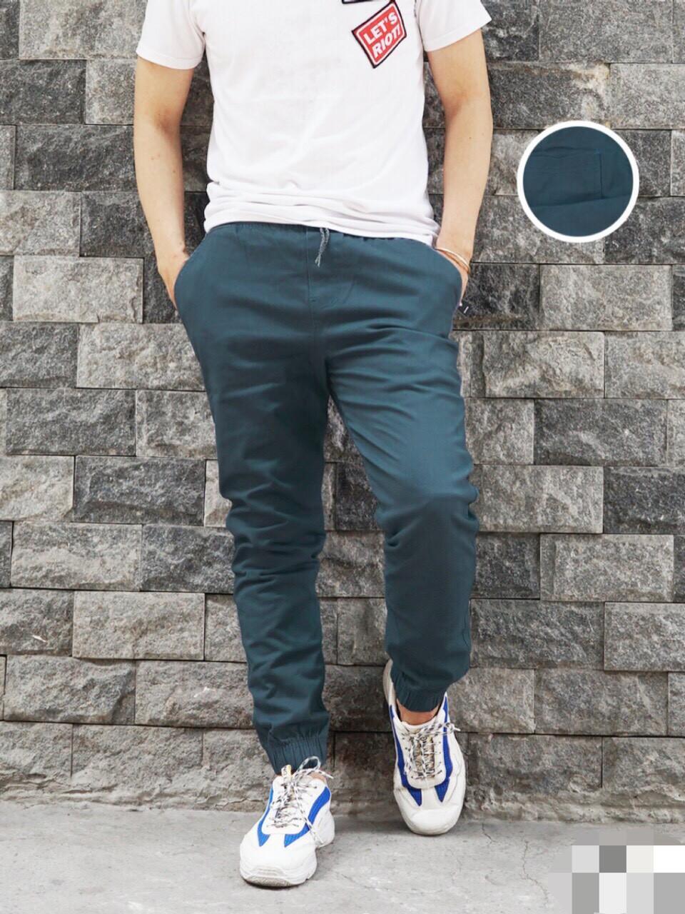 Quần Jogger Nam Cao Cấp - xanh vịt - 32