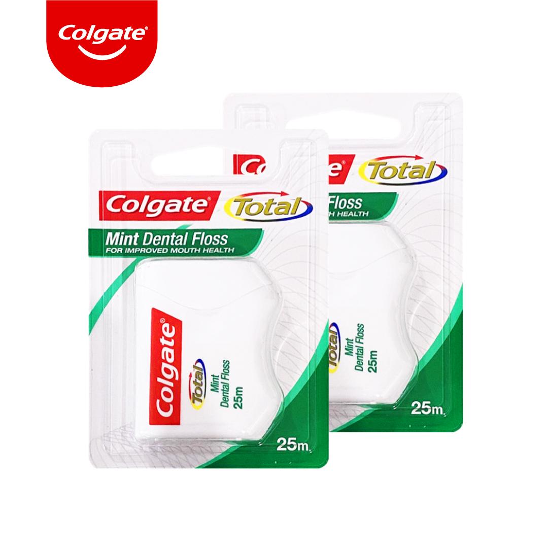 Bộ 2 hộp Chỉ nha khoa Colgate Total Dental Floss hương bạc hà