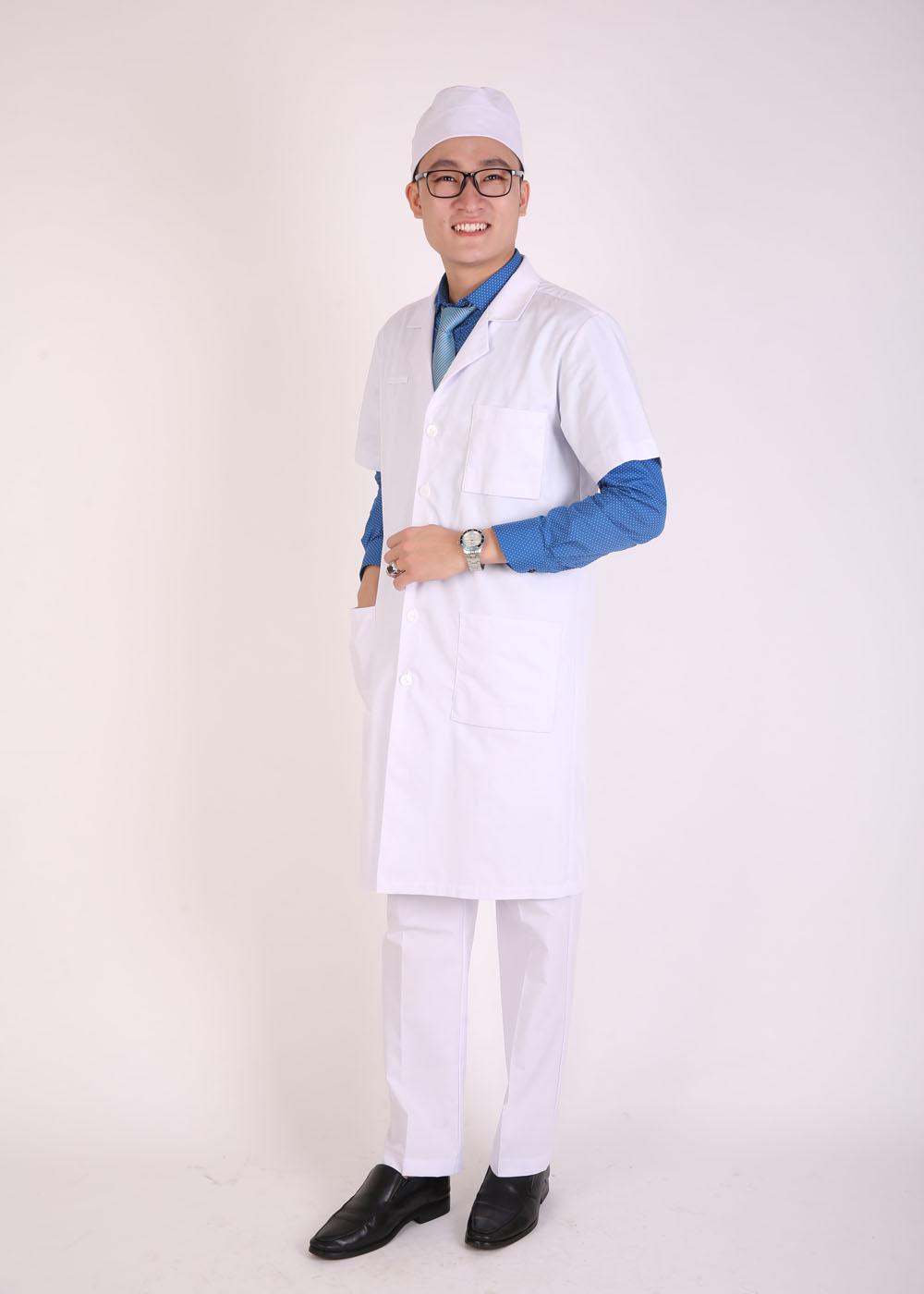 Áo bác sĩ nam mẫu 003 cộc tay