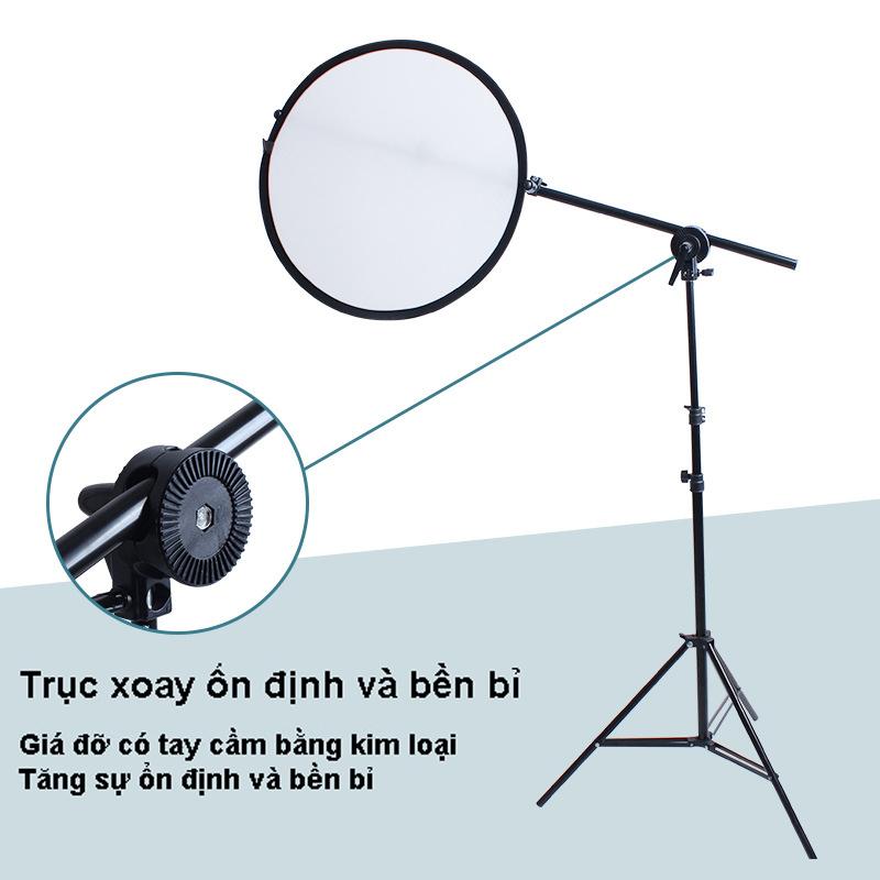 Tay boom treo tấm hắt sáng cho studio chuyên nghiệp, bộ gồm chân cao 2m, tay treo tấm hắt sáng 175cm