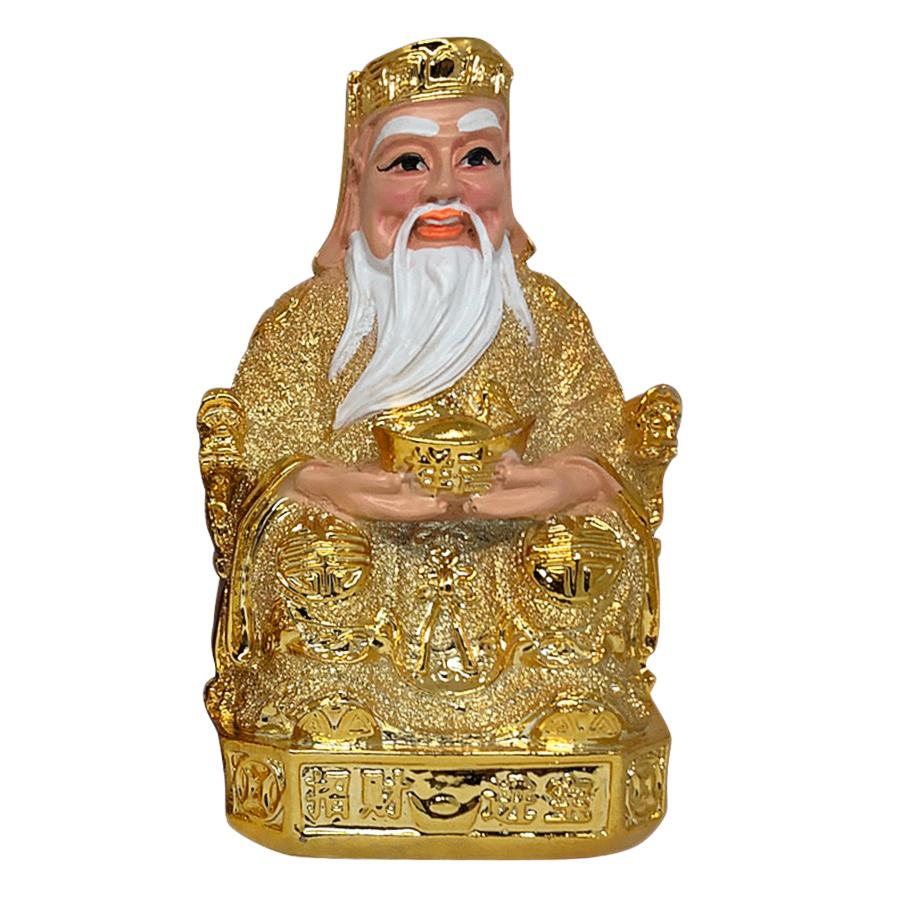 Tượng Thổ Địa Và Thần Tài Kim Sa PT0058 (8inch)