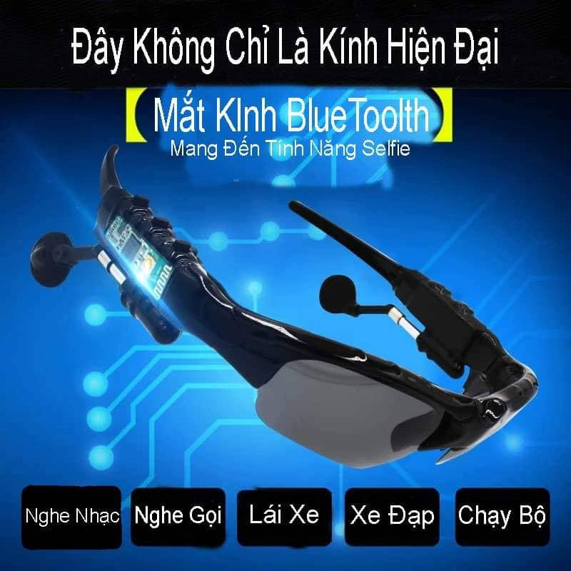 Mắt Kính Kết Hợp Tai Nghe Thông Minh Bluetoolth - Hàng nhập khẩu