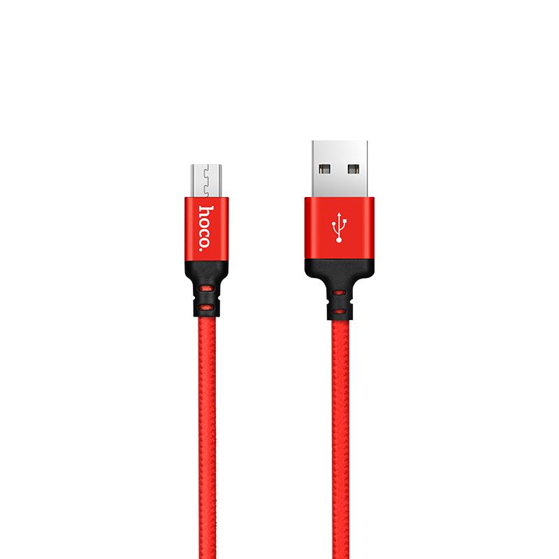 Cáp sạc nhanh Micro USB Hoco X14, dây sạc bọc dù chống đứt, chống rối, hỗ trợ truyền dữ liệu dành cho Samsung/Huawei/Xiaomi/Oppo/Sony, sạc nhanh 2A Max - Hàng chính hãng