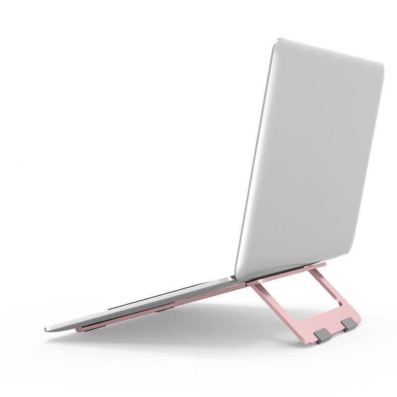 Giá đỡ, kệ đỡ cho máy tính, macbook, ipad bằng hợp kim nhôm siêu mỏng - MÀU ROSE GOLD