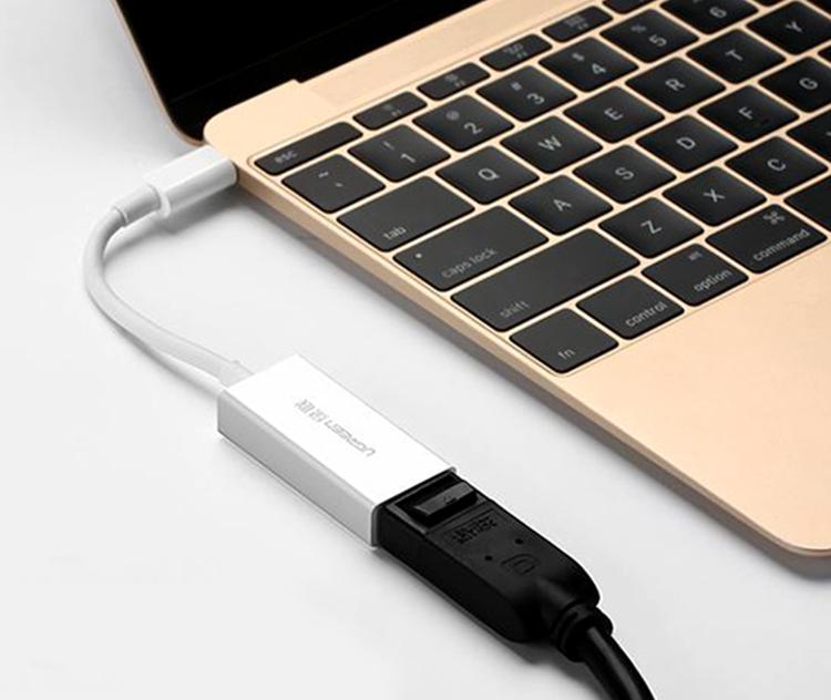 Cáp Chuyển Đổi Ugreen USB Type-C Sang Displayport 40372 (15cm) - Hàng Chính Hãng