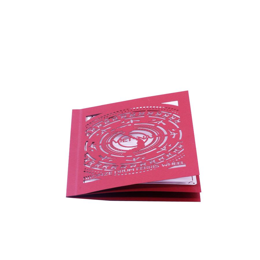 Thiệp Pop up 3D Đu Quay Trống Đồng - PNP118