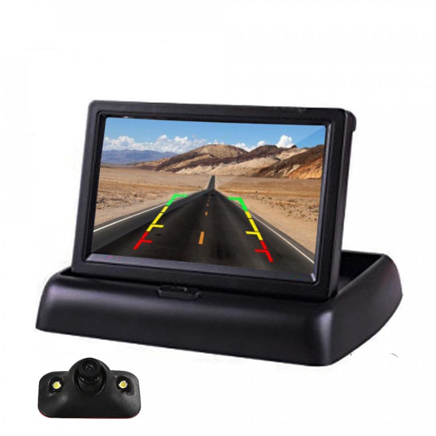 Bộ Camera Lùi Xe Hơi 4.3inch LCD A3 Gập Gọn Sang Trọng Sử Dụng Tẩu 12V