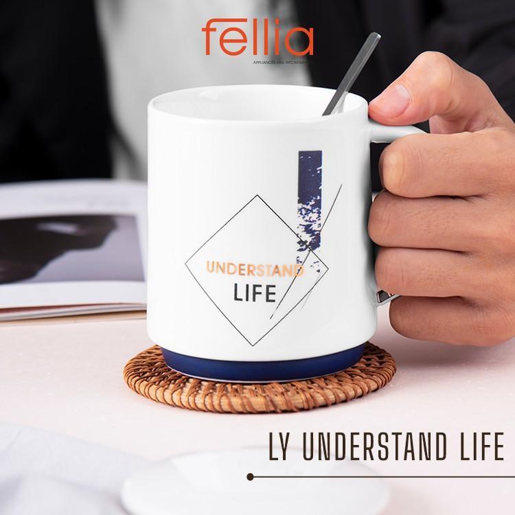 Ly sứ Understand Life Fellia cao cấp có nắp đậy, tặng kèm muỗng cho văn phòng, học sinh, sinh viên_844910220