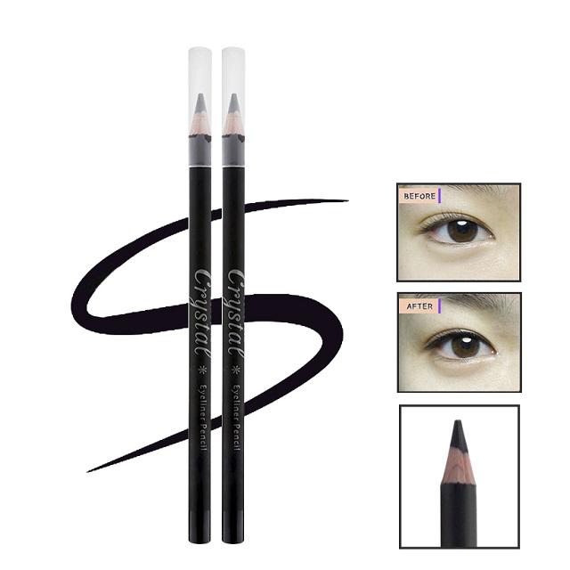 Chì kẻ mí mắt không lem dạ bút mềm dễ vẽ rõ nét không trôi Beauskin Crystal Eyeliner Pencil, Hàn Quốc 3g