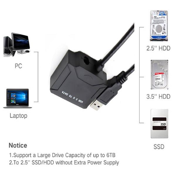 Cáp USB 3.0 to SATA HDD 2,5 và 3,5 Converter