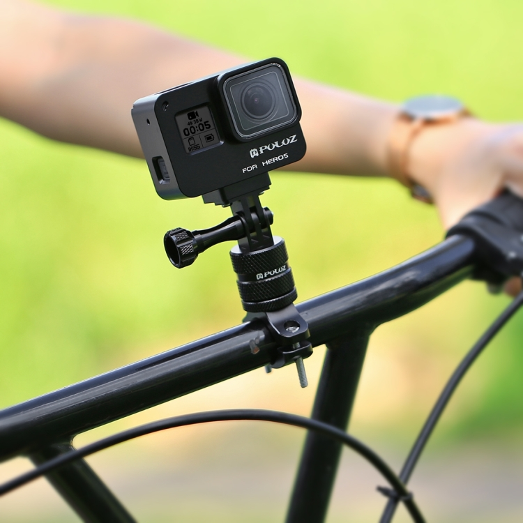 Kẹp ghi đông GoPro Hero kim loại vặn góc 360 độ PULUZ - Hãng phân phối chính thức