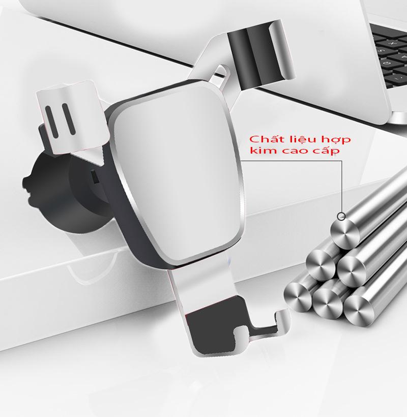 Giá đỡ , kẹp điện thoại cửa gió thanh điều hòa trên ô tô kiểu dáng thông minh - kẹp điện thoại ô tô (Màu bạc và đen) Giao màu ngẫu nhiên
