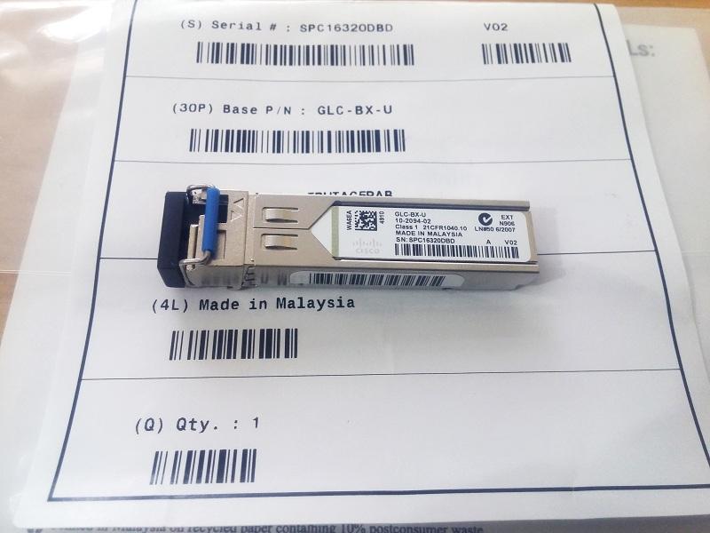 Module quang Cisco GLC-BX-U 1000BASE-BX, Single Mode, 1310TX 1490RX, Single LC 10KM - Hàng nhập khẩu